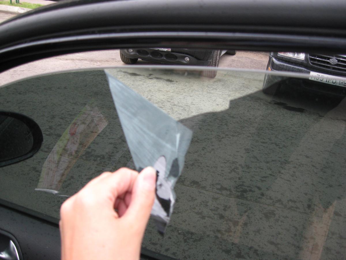 Тонировка на машине своими руками