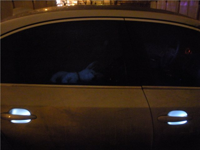 Как сделать подсветку дверных ручек в авто